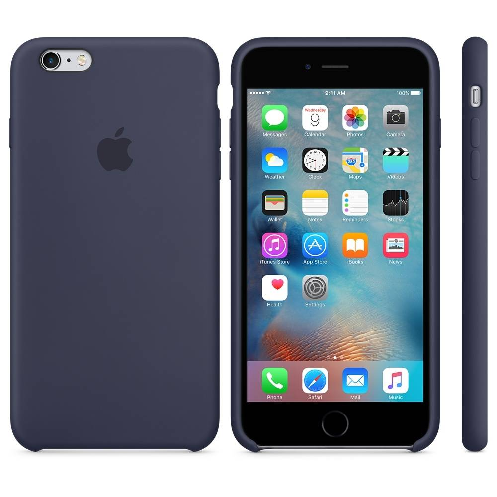 Capac protectie spate Apple Silicone Case Midnight Blue pentru iPhone 6s Plus, MKXL2ZM A