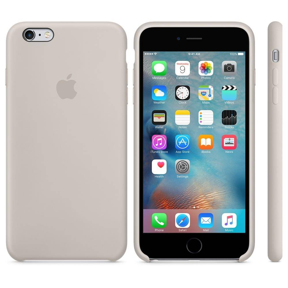 Capac protectie spate Apple Silicone Case Stone pentru iPhone 6s Plus, MKXN2ZM A